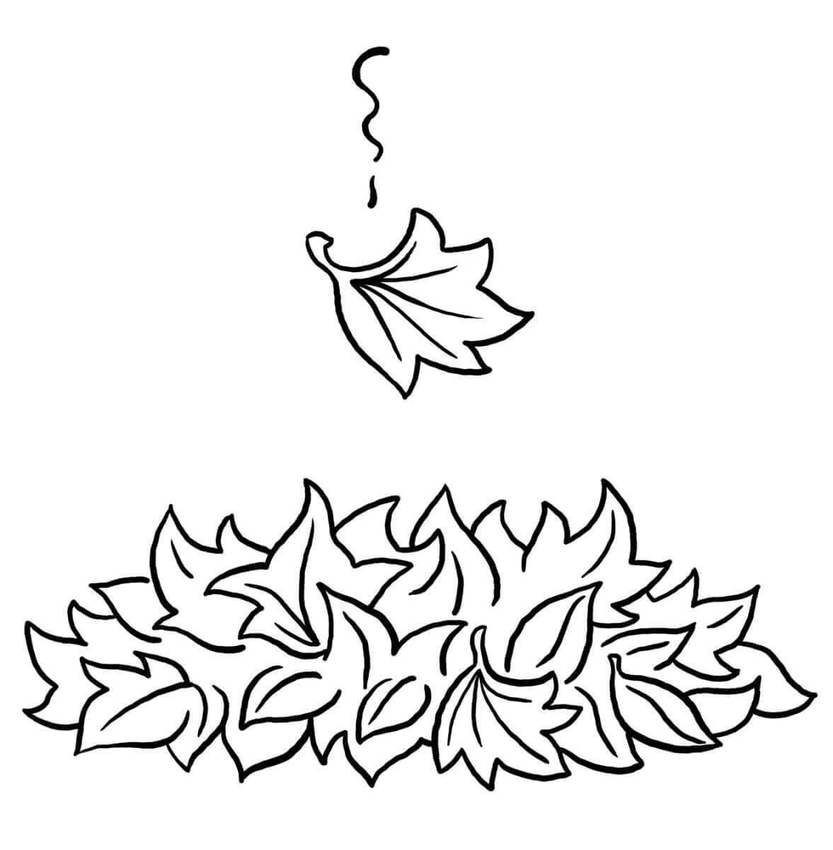 Autumn Leaf Coloring Sheets Printable