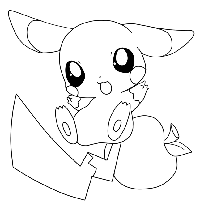 Baby Pikachu Coloring Pages Printable