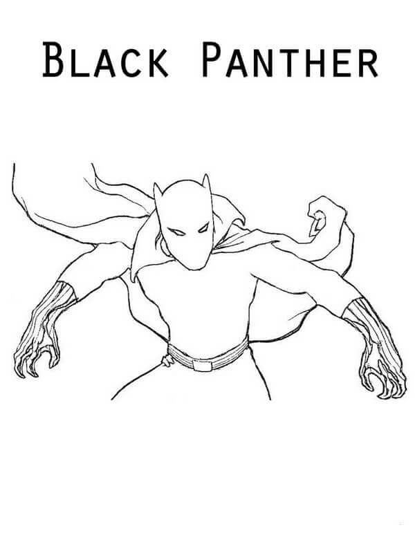 Black Panther Coloring Sheets Printable