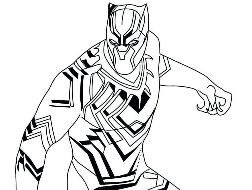 Black Panther Colouring Pages