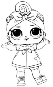Can Do Baby Lol Doll Coloring Page