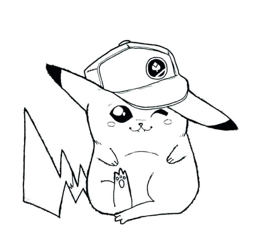 Cute Pikachu Coloring Images
