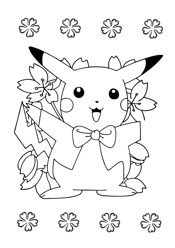 Cute Pikachu Coloring Pages Printable