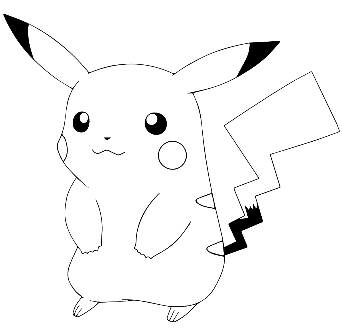 Cute Pikachu Coloring Pictures
