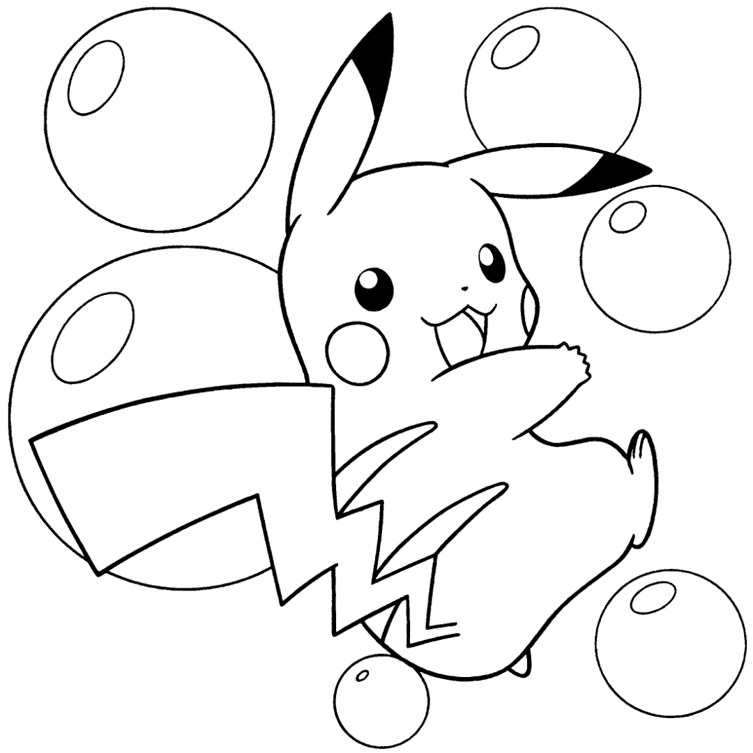 Cute Pikachu Coloring Sheets