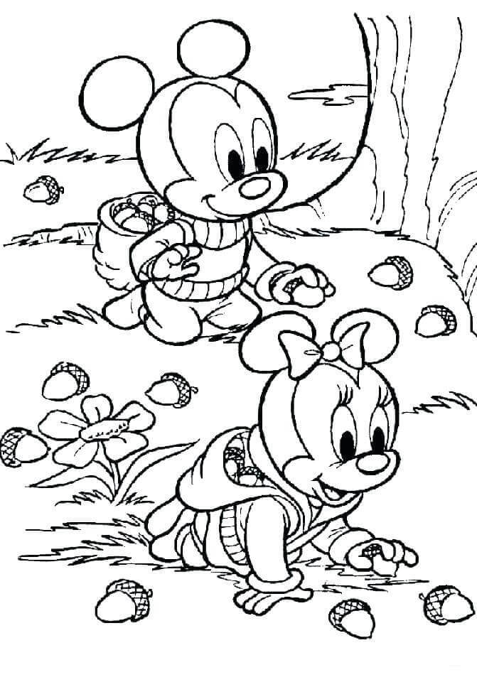 Fall Acorn Coloring Page