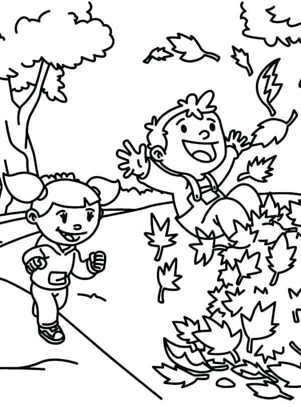 Fall Leaves Coloring Pages For Kids