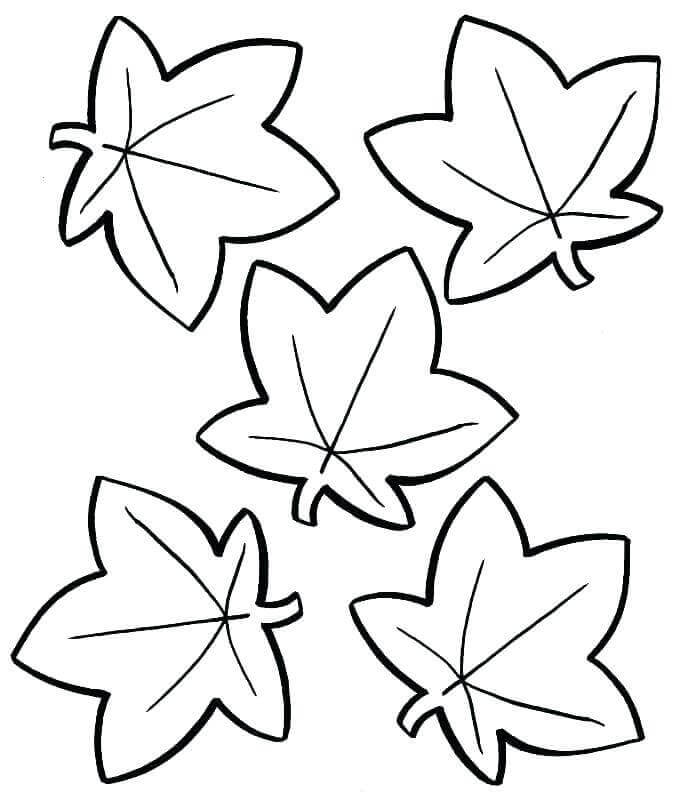 Fall Leaves Coloring Sheets For Preschoolers