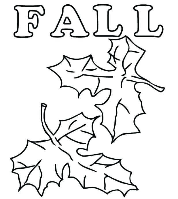 Fallen Leaves Coloring Pages