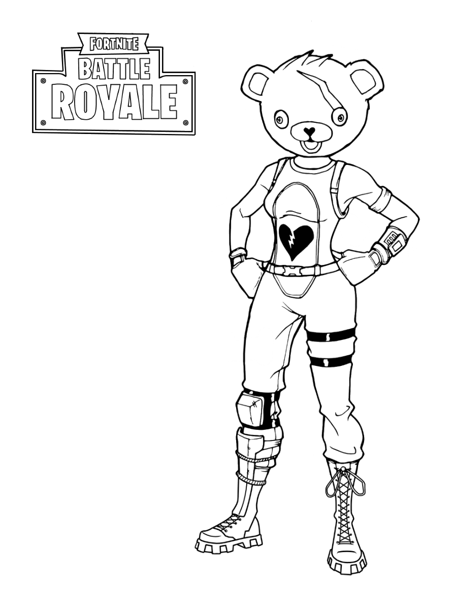 Fortnite Battle Royale Coloring Pages Free