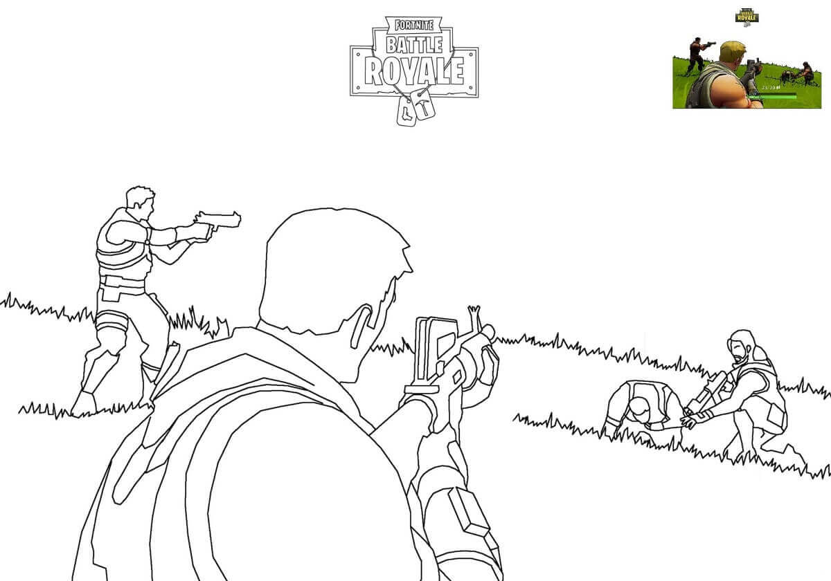 Fortnite Battle Royale Coloring Pages