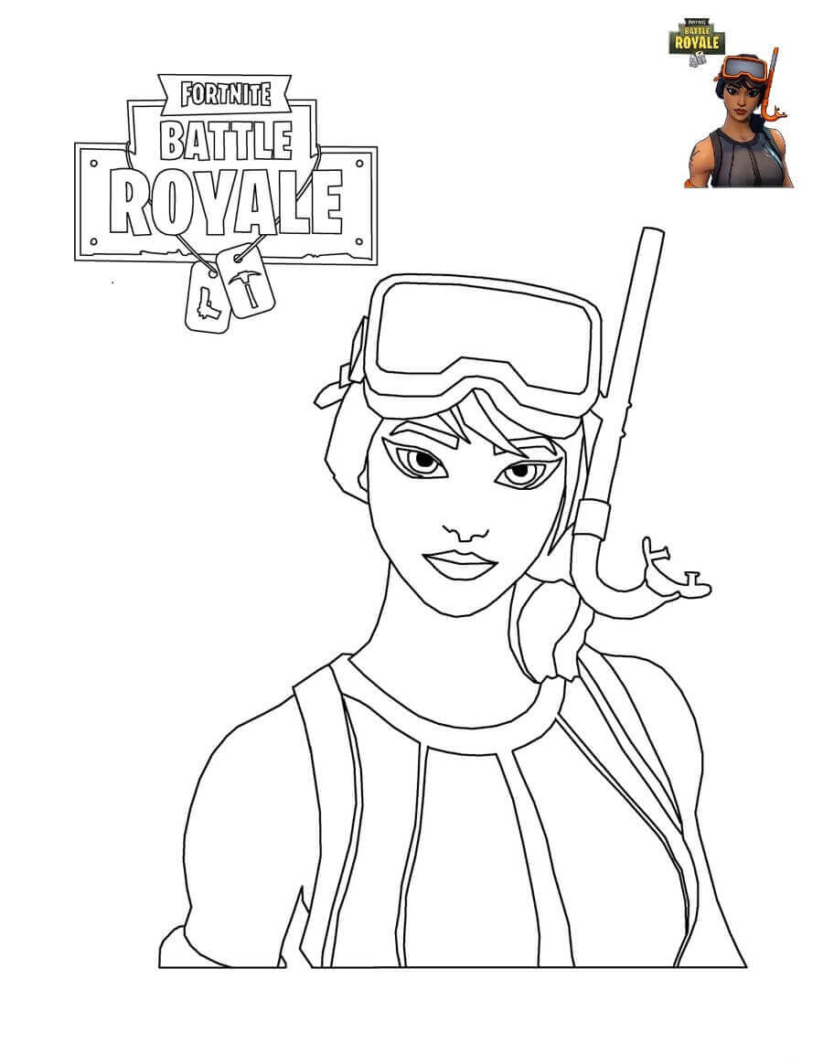 Fortnite Characters Coloring Pages