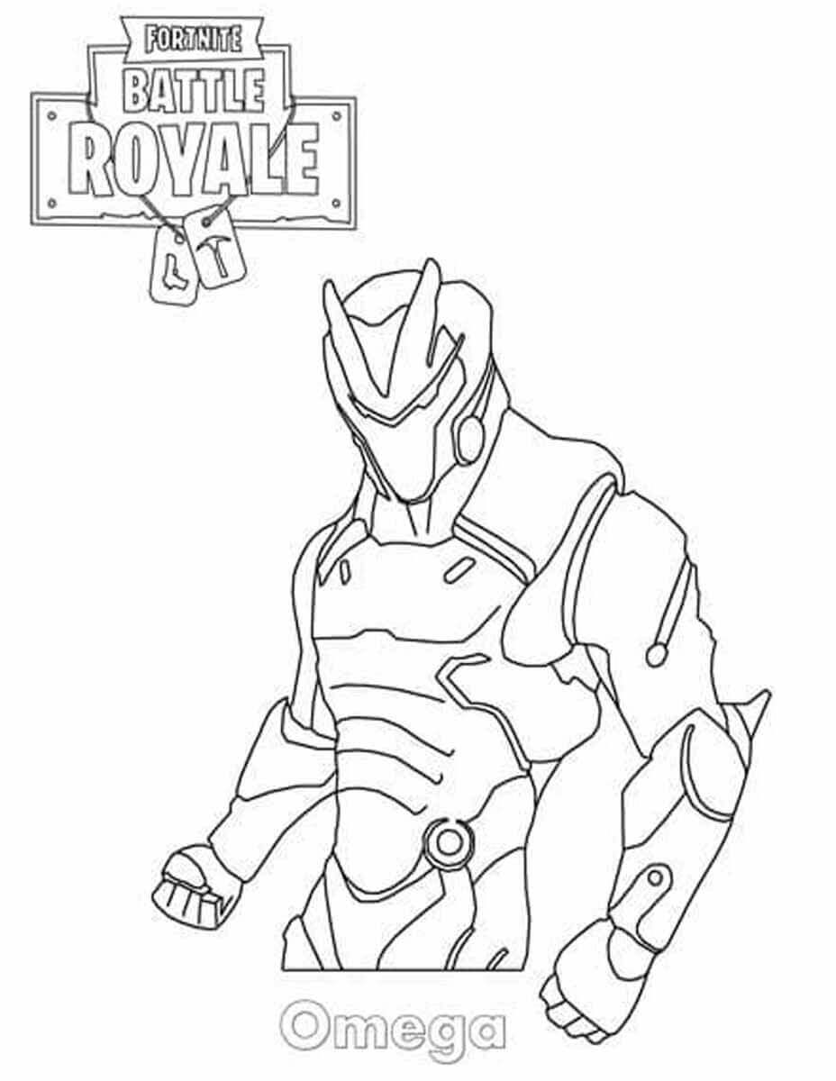 Fortnite Coloring Pages Omega