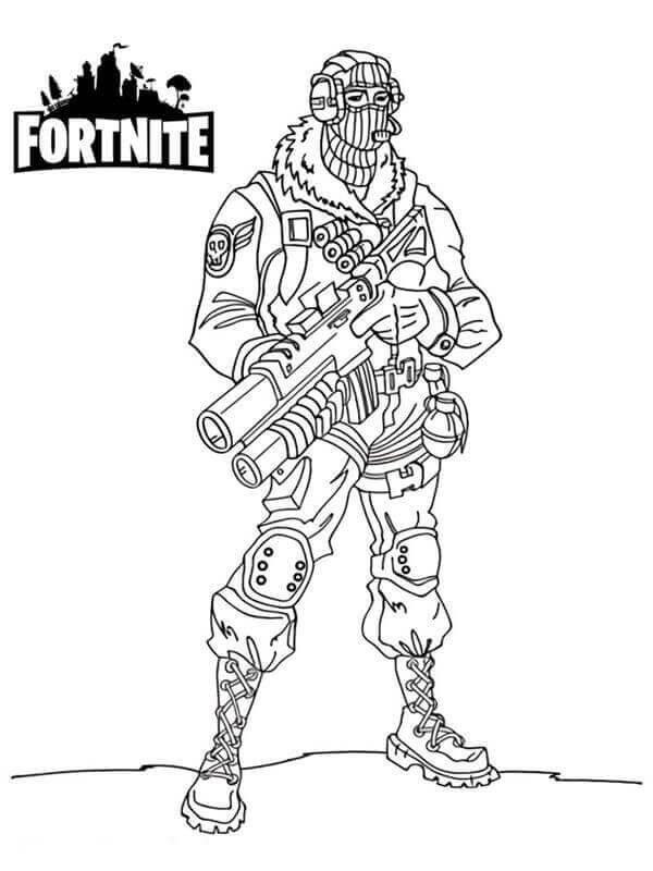Fortnite Raptor Coloring Page
