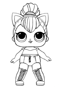 Free Lol Doll Coloring Sheets Kitty Queen