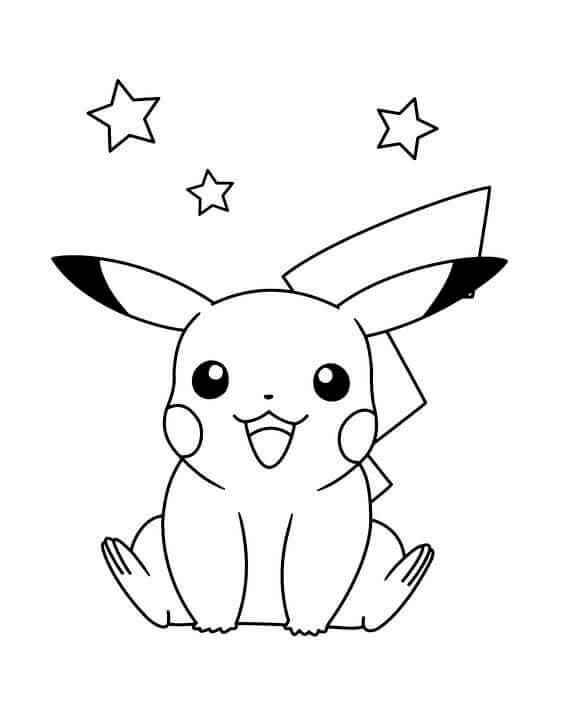 Free Pikachu Coloring Sheets