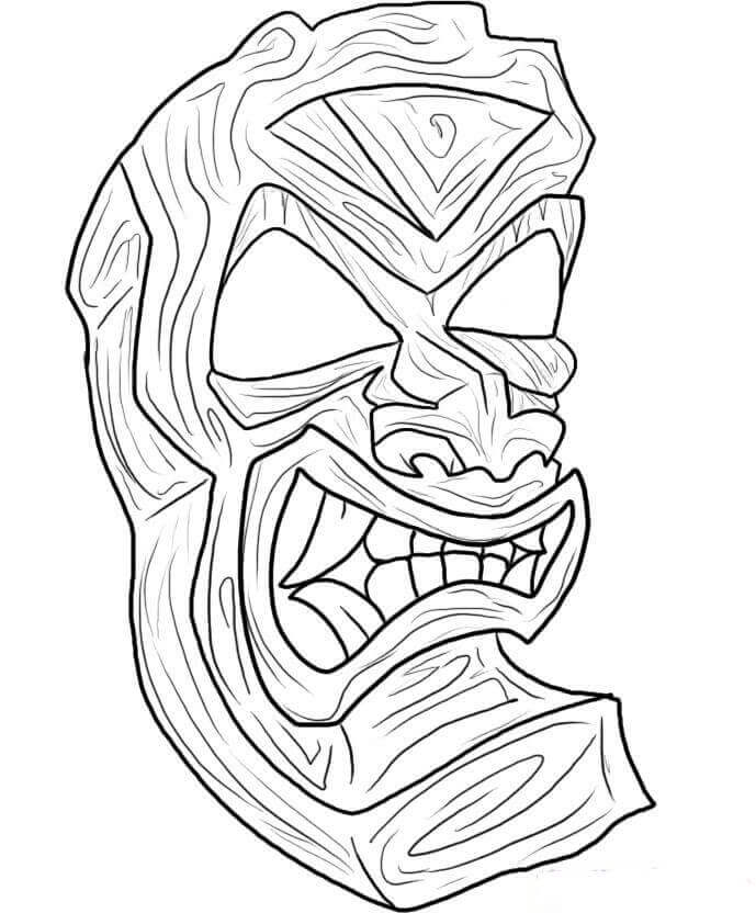 Free Tiki Coloring Pages