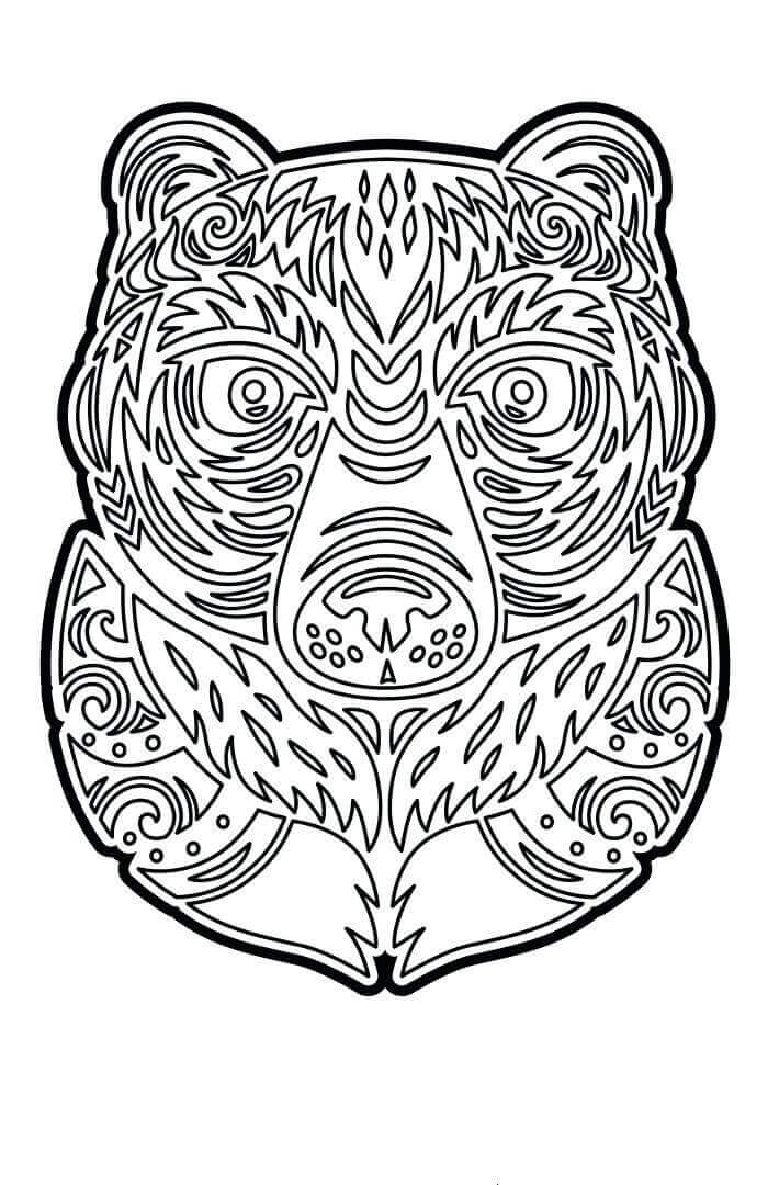 Intricate Tiki Coloring Sheets