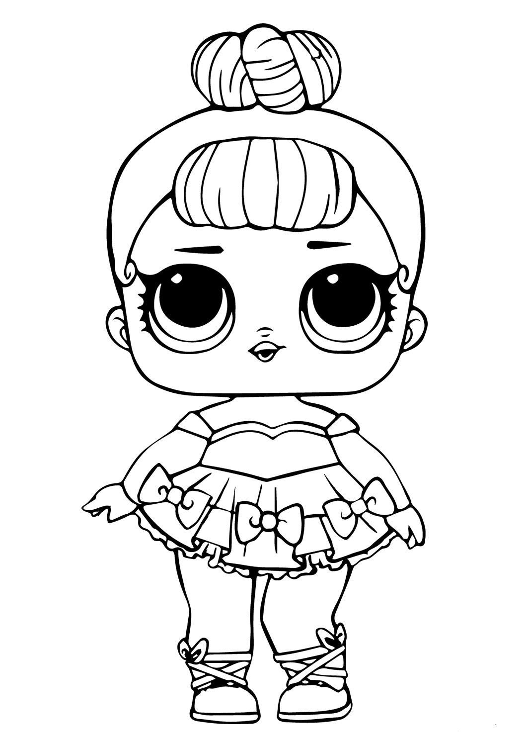 LOL Doll Coloring Page Miss Baby Glitter