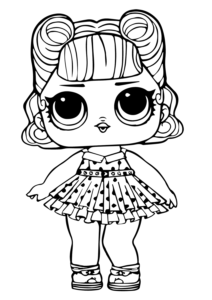 LOL Surprise Doll Coloring Page Jitterbug