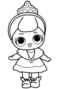 LOL Surprise Doll Coloring Pages Crystal Doll