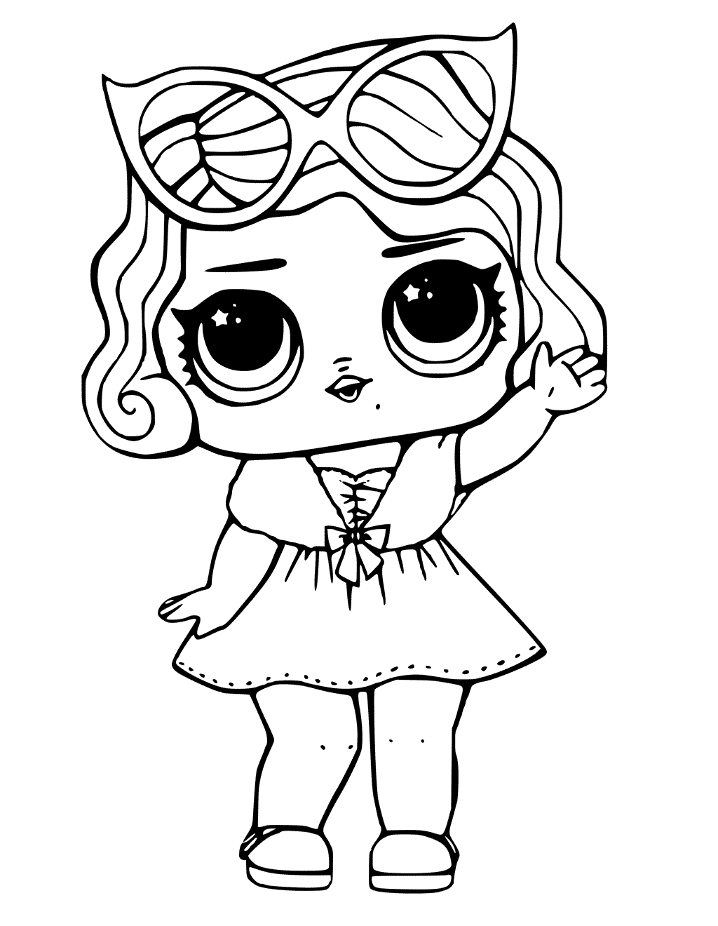 LOL Surprise Doll Coloring Pages Leading Baby