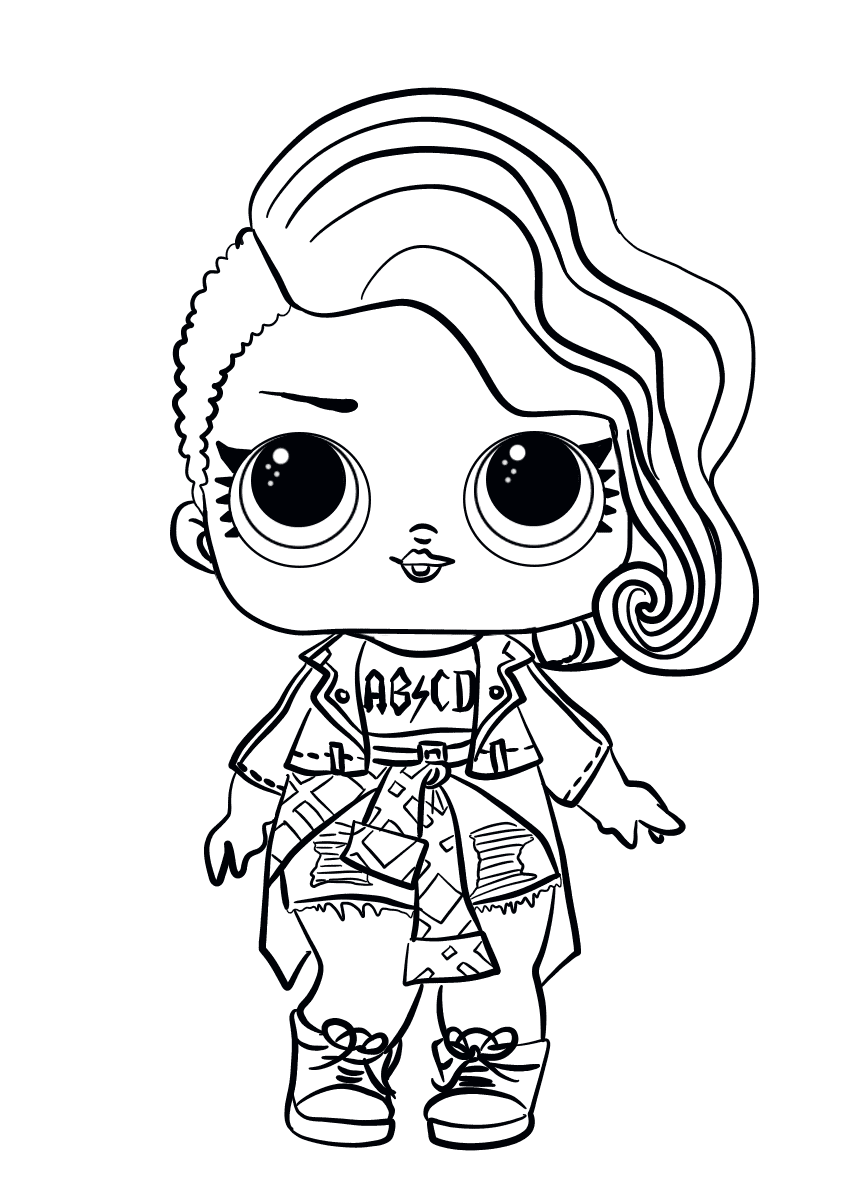 30 Free Printable Lol Surprise Doll Coloring Pages Coloring Junction