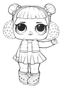 LOL Surprise Doll Coloring Pages Snow Angel