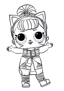 LOL Surprise Doll Coloring Pages Troublemaker