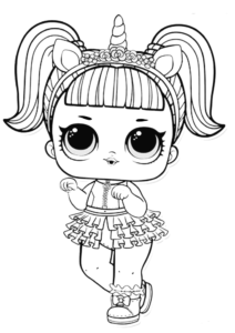 LOL Surprise Doll Unicorn Coloring Page