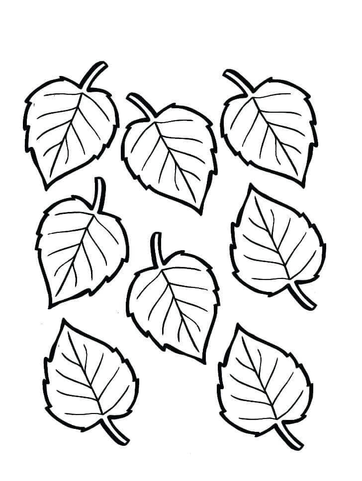 Leaves Coloring Sheets For Fall