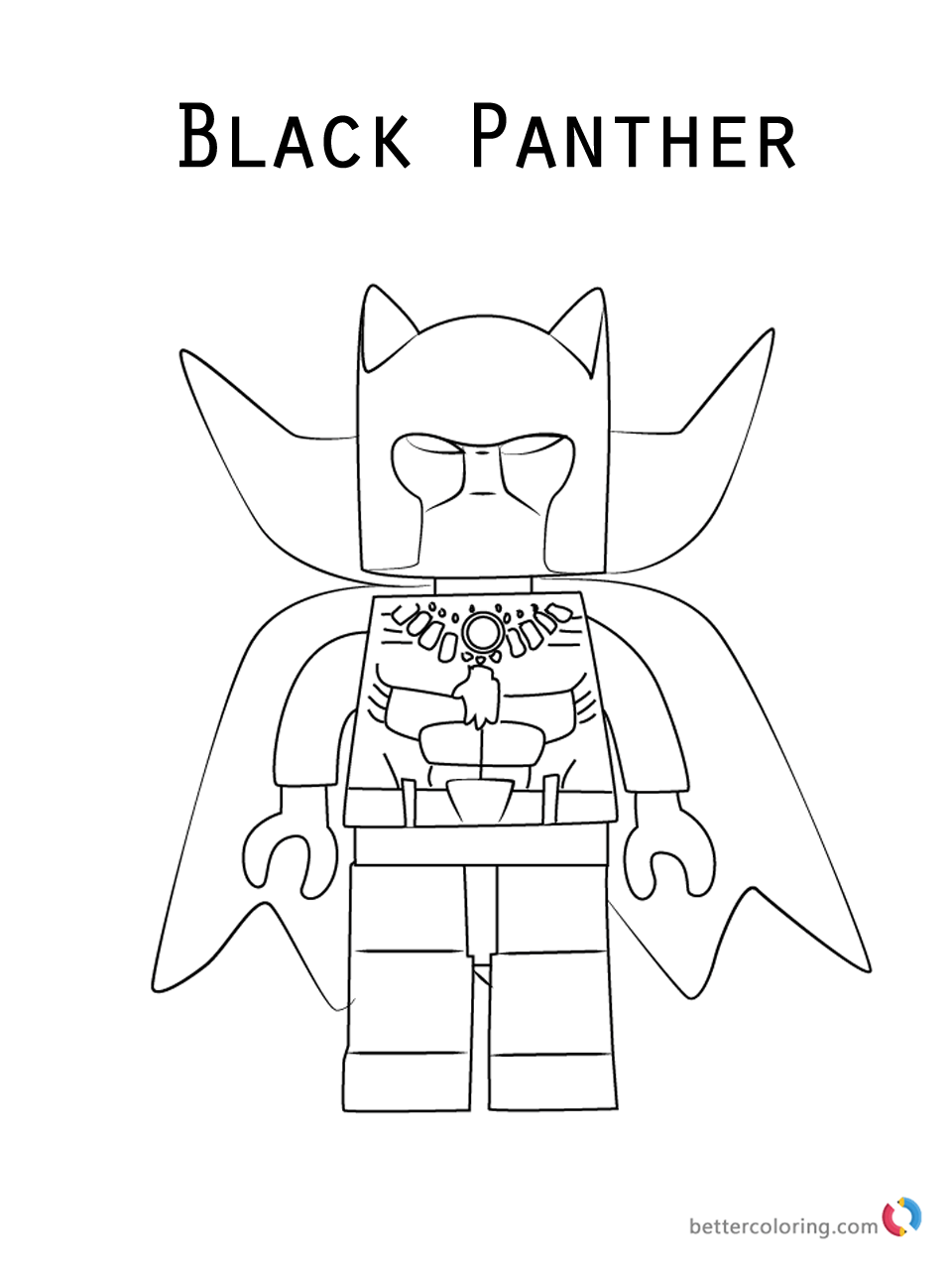 20 Free Printable Black Panther Coloring Pages Coloring Junction