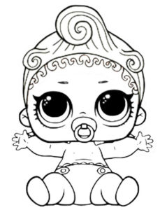 Lol Doll Coloring Page Lil Can Do Baby