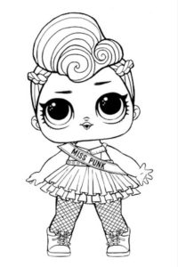 Lol Suprise doll coloring pages