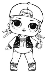 MC Swag Lol Suprise Doll Coloring Page