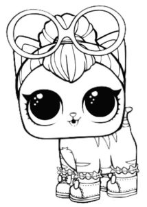 Neon Kitty From LOL Pets Coloring Pages