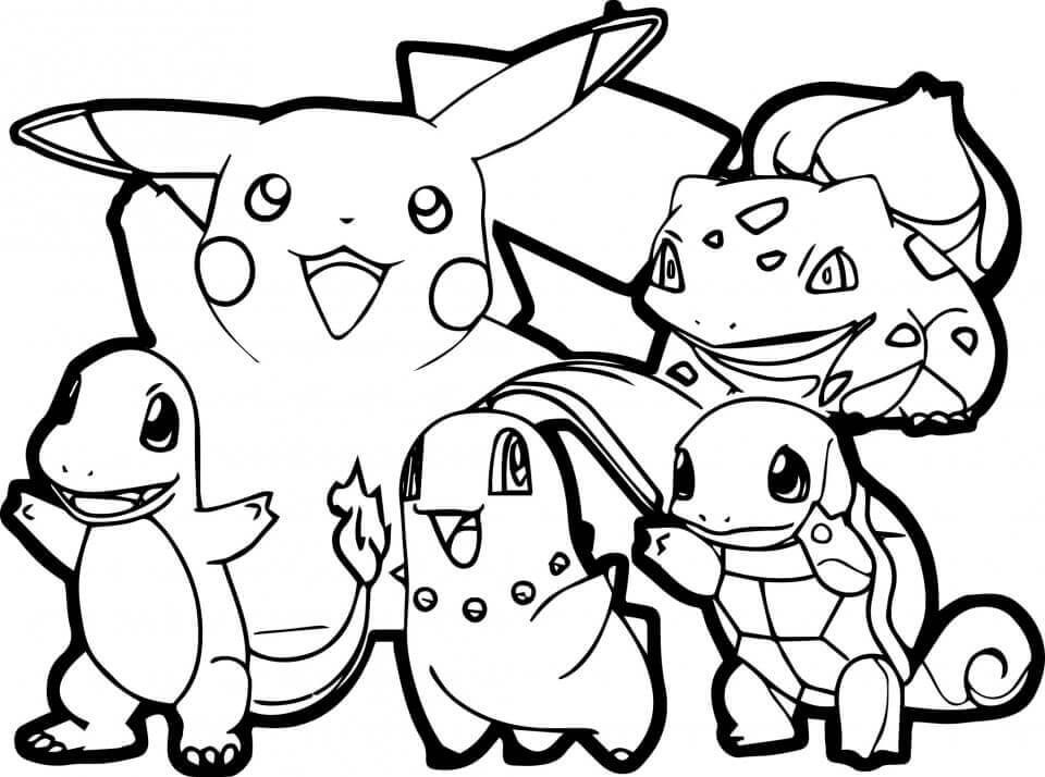 Pikachu And Friends Coloring Pages Printable
