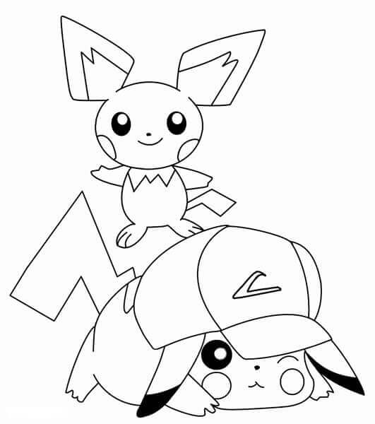 Pikachu Coloring Images To Print