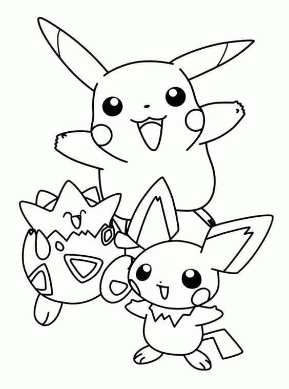 Pikachu Coloring Pages For Preschoolers
