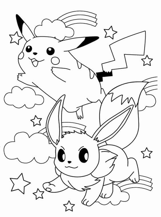 Pikachu Coloring Pages Printable Free