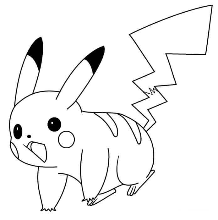 Pikachu Coloring Pictures To Print