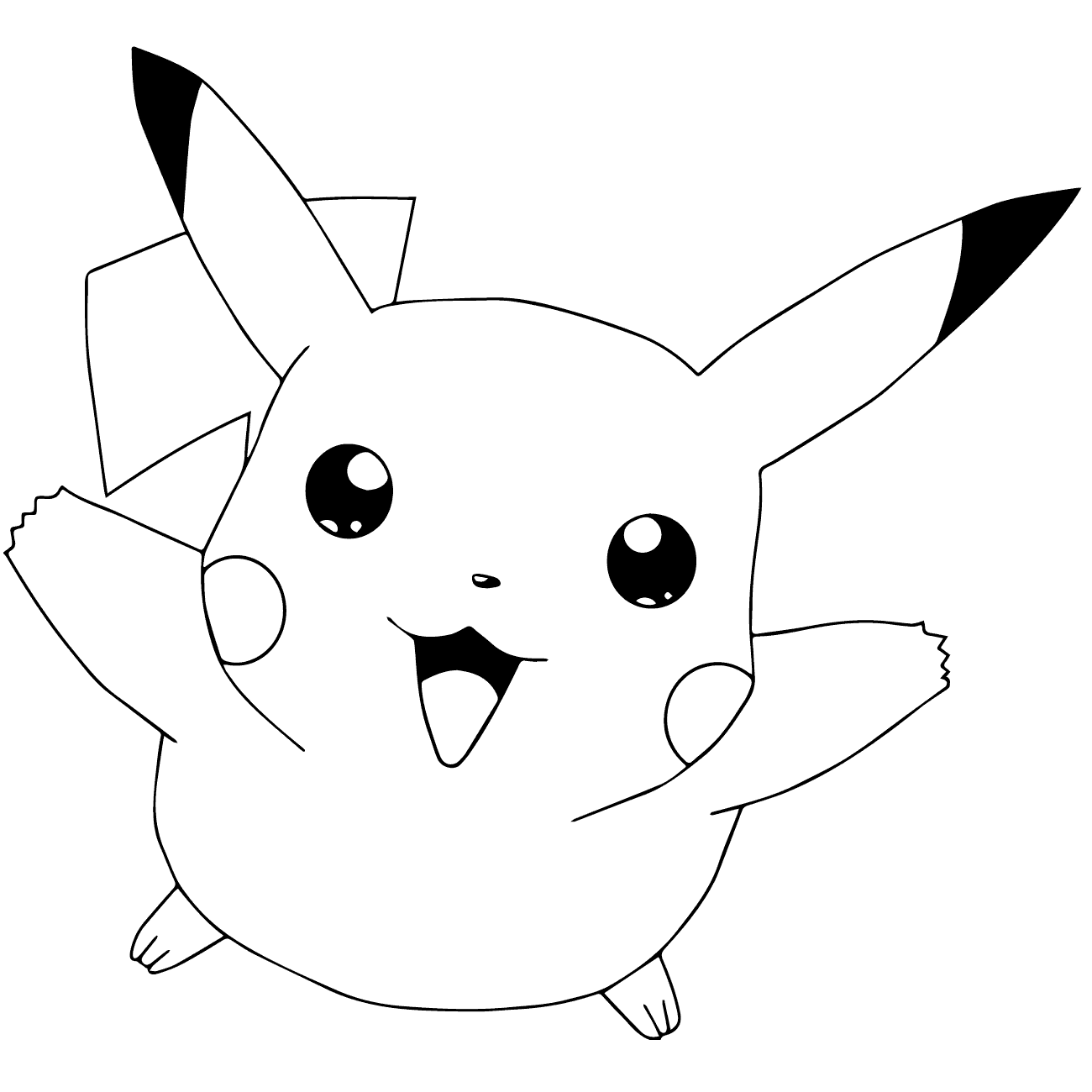 Pikachu coloring sheets to print