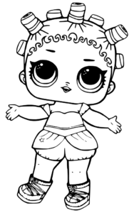 Printable LOL Surprise Doll Coloring Pages Cosmic Queen