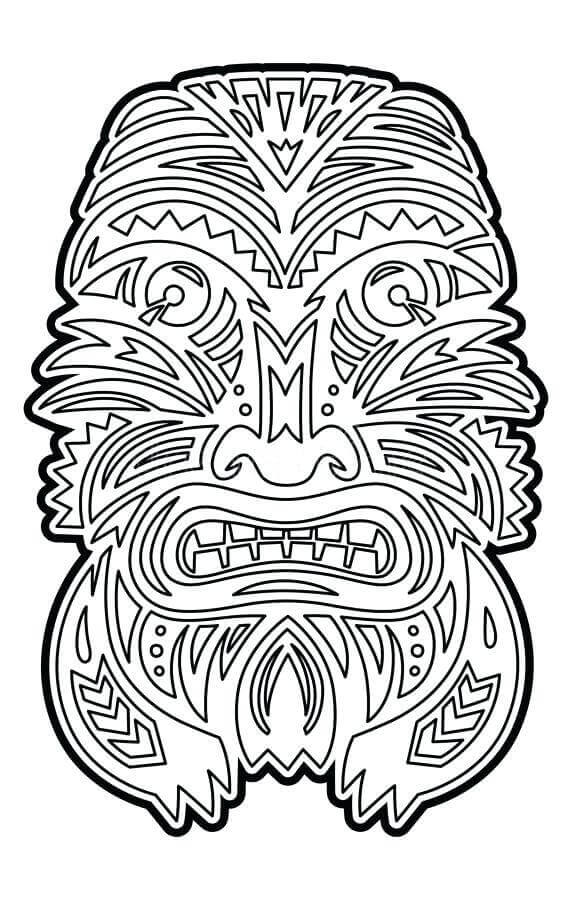 Tiki Coloring Pages For Adults