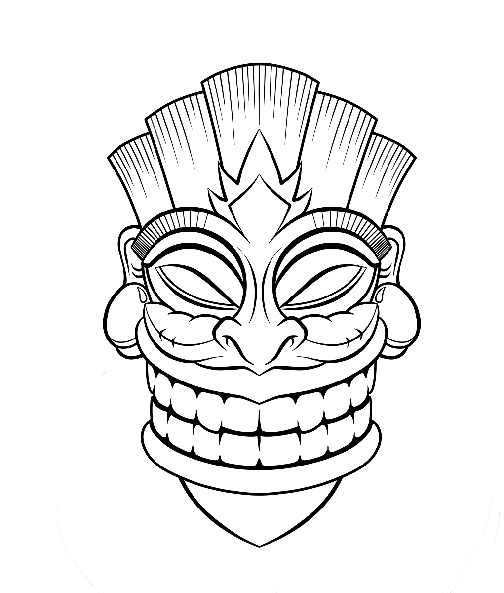 Tiki Coloring Pictures To Print