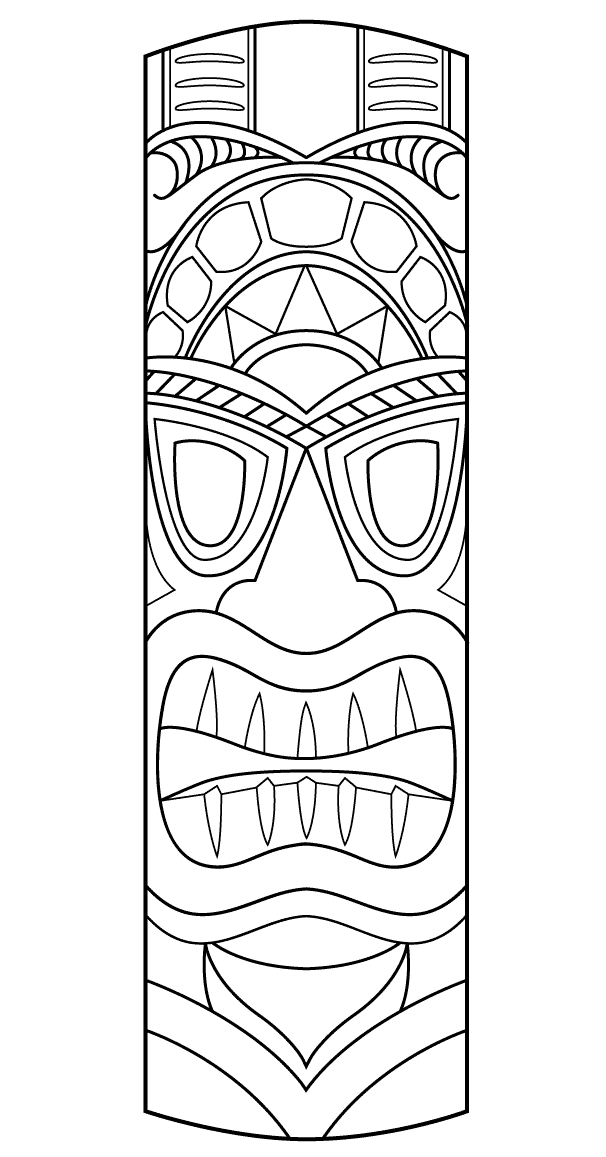 Tiki God Coloring Pages