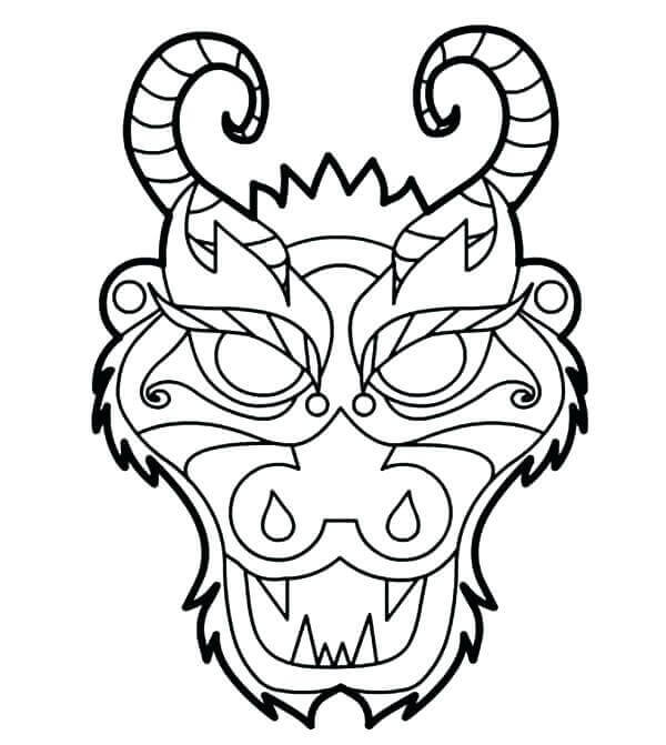 Tiki Mask Coloring Pages For Adults