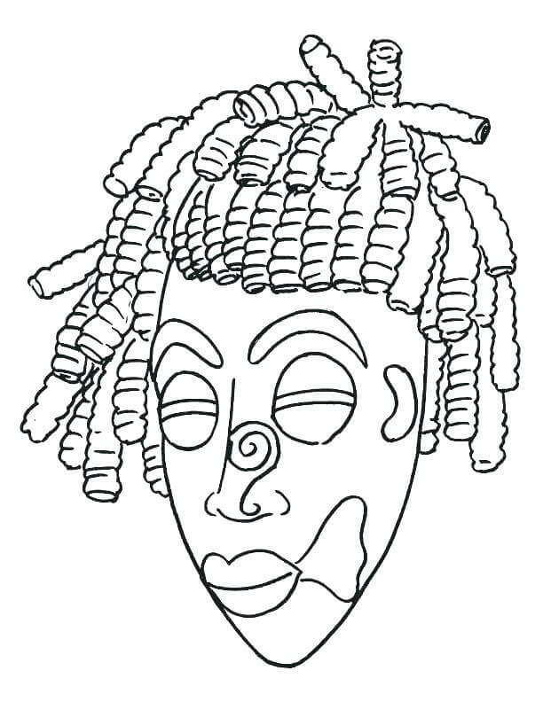 Tiki Masks Coloring Pages For Kids