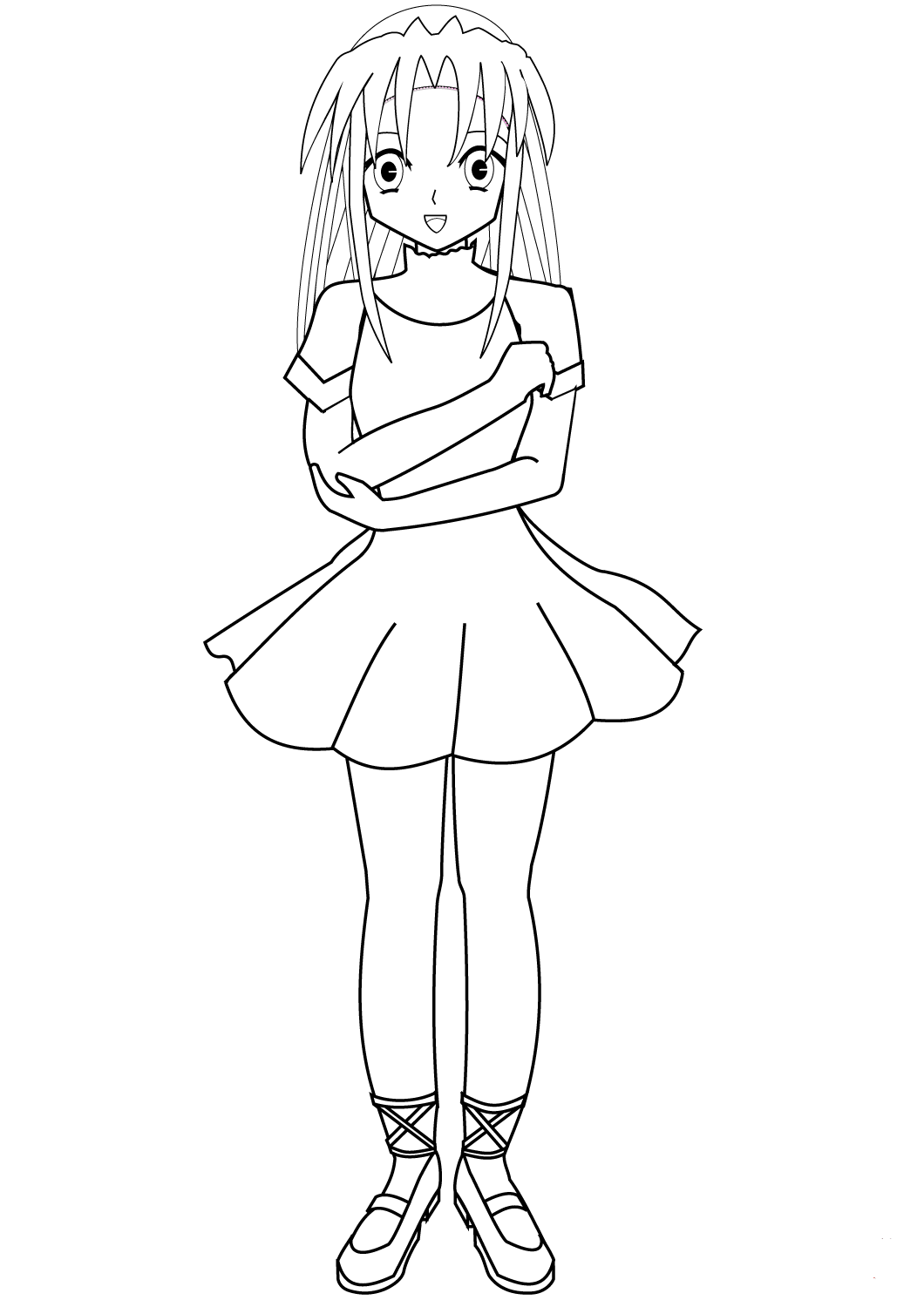 Anime Ballet Coloring Pages
