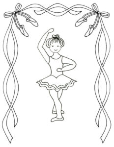 Ballerina Coloring Book